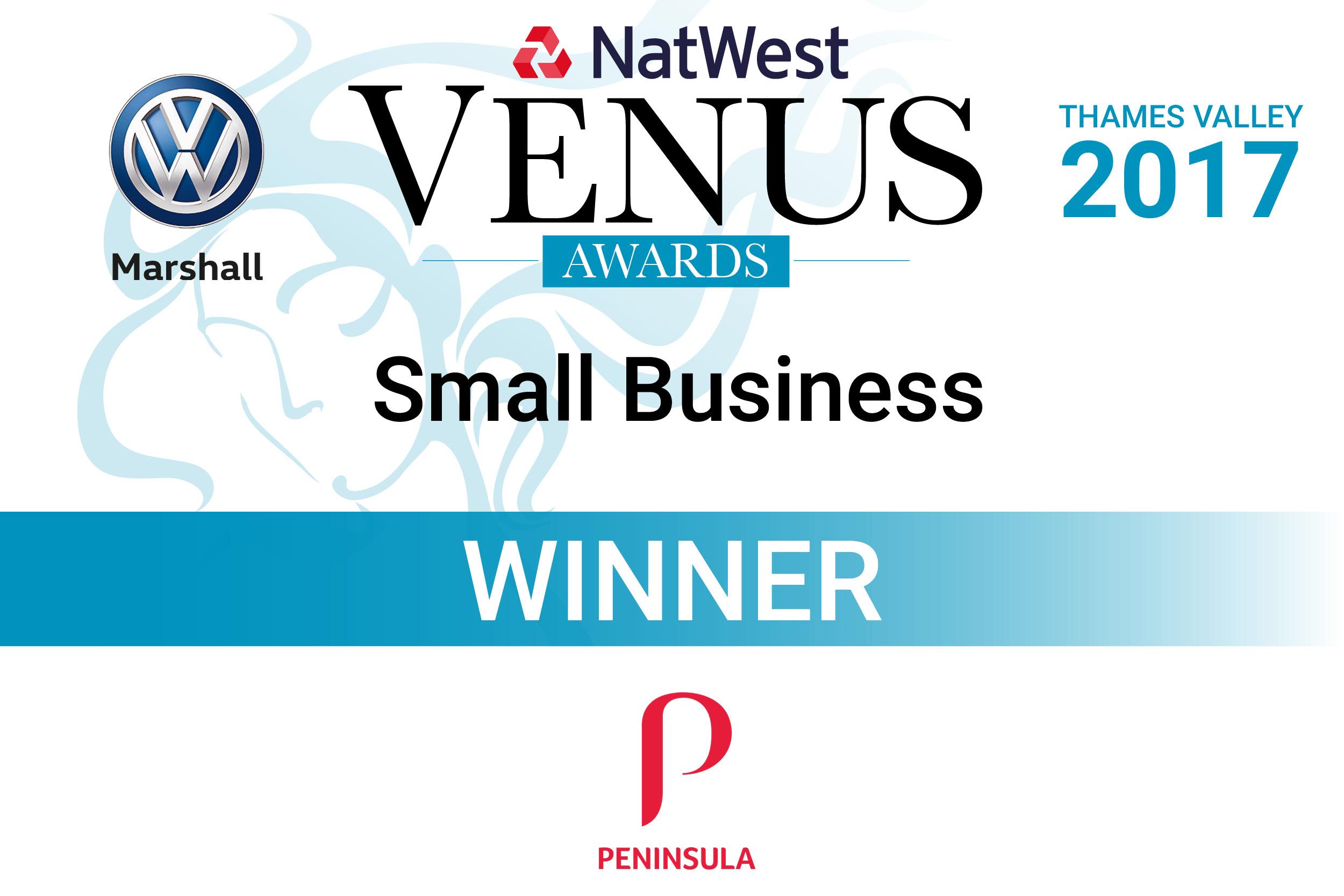 Venus Small Business Award